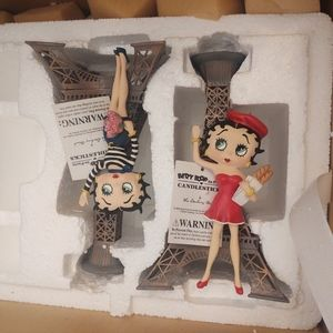 Betty Boop Eiffel Tower Candlestick Candle Holders